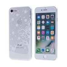 Kryt pro Apple iPhone 7 / 8 - gumový - průhledný - zimní krajina