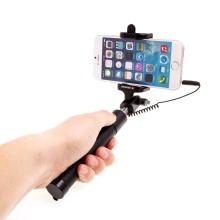Selfie tyč / monopod SWISSTEN teleskopická - kabelová spoušť - černá