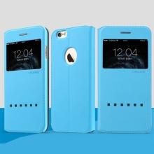 Ochranné pouzdro USAMS se stojánkem a průhledným prvkem / výřezem na displej pro Apple iPhone 6 6S- modré