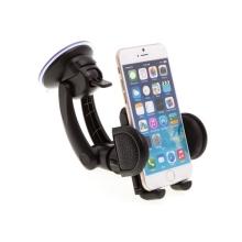 Držák do auta Blue Star pro Apple iPhone a zařízení šíře 4,5 až 9cm na ventilační mřížku + přísavka na sklo - černý
