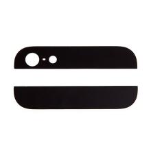 Horní a dolní sklo zadního krytu pro Apple iPhone 5 - černé