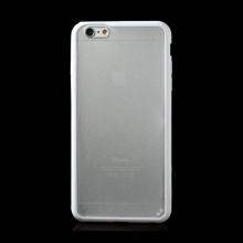Kryt pro Apple iPhone 6 Plus / 6S Plus plasto-gumový - matný průhledný s bílým rámečkem
