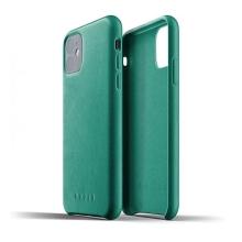 Kryt MUJJO Full leather pro Apple iPhone 11 - kožený - zelený