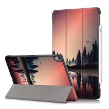 Pouzdro / kryt pro Apple iPad Air 4 (2020) - funkce chytrého uspání - umělá kůže - noční les