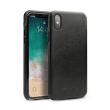 Kryt pro Apple iPhone X - kožený - černý
