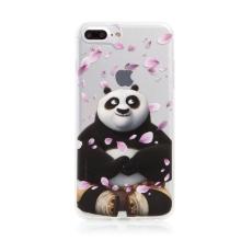 Kryt Kung Fu Panda pro Apple iPhone 7 Plus / 8 Plus - gumový - Po a okvětní lístky