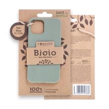 Kryt FOREVER BIOIO - pro Apple iPhone 12 / 12 Pro - Zero Waste kompostovatelný kryt - khaki zelený