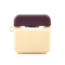 Pouzdro / obal pro Apple Airpods - insta kamera - silikonové - hnědá / béžová