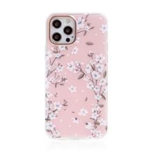 Kryt pro Apple iPhone 12 / 12 Pro - plastový / gumový - kvetoucí třešeň - růžový