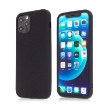 Kryt pro Apple iPhone 12 / 12 Pro - matný - protiskluzový - gumový - černý