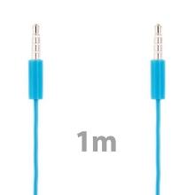 Propojovací audio jack kabel 3,5mm pro Apple iPhone / iPad / iPod a další zařízení - modro-průhledný - 1m