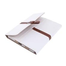 Stylový ochranný kryt pro Apple iPad 2. / 3. / 4.gen. - s páskem - bílý