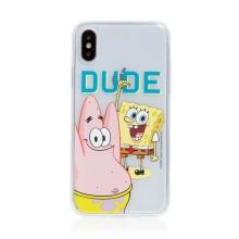 Kryt Sponge Bob pro Apple iPhone X / Xs - gumový - Sponge Bob s Patrikem