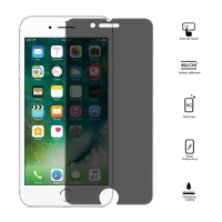 Tvrzené sklo (Tempered Glass) pro Apple iPhone 7 - antispy / privacy - tmavé - 0,25mm
