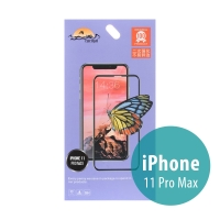 Tvrzené sklo (Tempered Glass) RURIHAI pro Apple iPhone Xs Max / 11 Pro Max - černý rámeček - 2,5D - 0,26mm