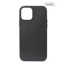 Kryt DECODED pro Apple iPhone 12 / 12 Pro - plastový / kožený -  podpora MagSafe - černý
