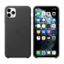 Originální kryt pro Apple iPhone 11 Pro Max - kožený - černý