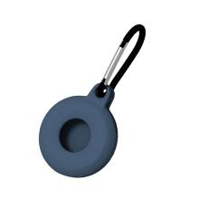 Kryt / obal pro Apple AirTag - kovová karabina - silikonový - tmavě modrý