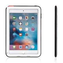 Super odolné kovové / silikonové pouzdro LOVE MEI pro Apple iPad mini 4 + Gorilla Glass - bílé