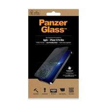 Tvrzené sklo (Tempered Glass) PANZERGLASS pro Apple iPhone 13 Pro Max - černý rámeček - privacy - 0,4mm