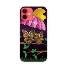 Kryt pro iPhone 12 / 12 Pro - gumový - zamilované sovičky