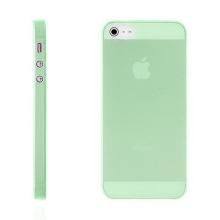 Kryt pro Apple iPhone 5 / 5S / SE - matný - plastový - tenký 0,5 mm - zelený