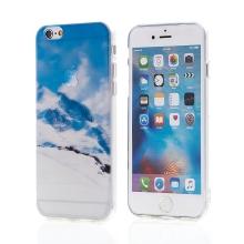 Kryt pro Apple iPhone 6 / 6S - gumový - průhledný / hory