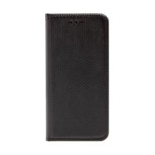 Pouzdro pro Apple iPhone 6 / 6S - stojánek + prostor pro platební karty - látková textura - černé