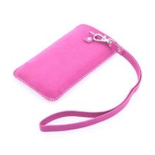 Stylové ochranné koženkové pouzdro pro Apple iPhone s páskem a místem pro kreditní kartu