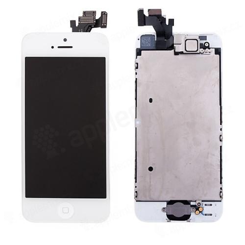 Kompletně osazená přední čast (LCD panel, touch screen digitizér atd.) pro Apple iPhone 5 - bílý
