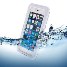 Voděodolné plasto-silikonové pouzdro pro Apple iPhone 6 Plus / 6S Plus - bílo-průhledné