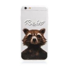 Kryt MARVEL pro Apple iPhone 6 Plus / 6S Plus - Strážci Galaxie - Rocket - gumový - průhledný