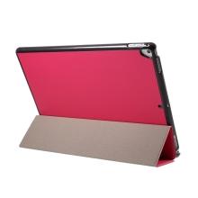 """Pouzdro / kryt pro Apple iPad Pro 12,9"""" / 12,9"""" (2017) - integrovaný stojánek - umělá kůže - tmavě růžové"""