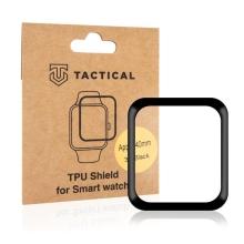Ochranná 3D fólie TACTICAL pro Apple Watch 40mm Series 4 / 5 / 6 / SE - černá / čirá