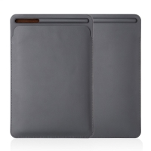 """Pouzdro / obal pro Apple iPad velikosti 9,7 """" / 10,2"""" / 10,5"""" - kapsa na Apple Pencil - umělá kůže - šedé"""