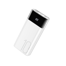 Externí baterie / power bank USAMS US-CD97 - 10000 mAh - 2x USB, 2,1A, vstup Lightning / Micro USB / USB-C - bílá