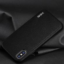 Kryt X-level pro Apple iPhone X / Xs - pevný - plastový / umělá kůže - černý