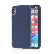 Kryt SWISSTEN Soft Joy pro Apple iPhone X / Xs - příjemný na dotek - silikonový - tmavě modrý