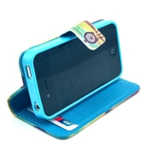 Ochranné pouzdro se stojánkem a prostory na doklady pro Apple iPhone 4 / 4S