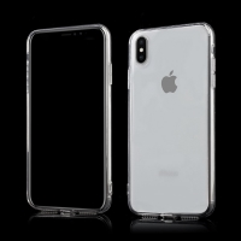 Kryt pro Apple iPhone Xs Max - gumový - průhledný