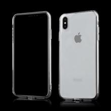 Kryt pro Apple iPhone Xs Max - gumový se záslepkami - průhledný