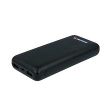 Externí baterie / power bank SWISSTEN - 20000 mAh - 3x USB, 2,4A, vstup Lightning / Micro USB / USB-C - černá