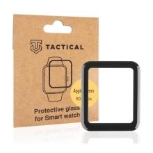 Tvrzené sklo TACTICAL 5D pro Apple Watch 40mm Series 4 / 5 / 6 / SE - 3D okraj - černé / čiré