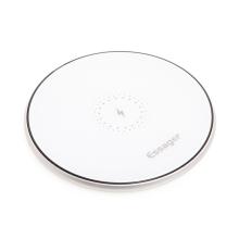 Bezdrátová nabíječka / nabíjecí podložka Qi ESSAGER - hliníková - stříbrná / bílá