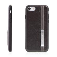 Kryt NILLKIN pro Apple iPhone - stojánek - umělá kůže / plast / kov - tmavě hnědý