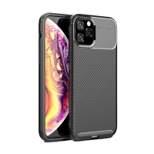 Kryt pro Apple iPhone XI - karbonová textura - gumový - černý