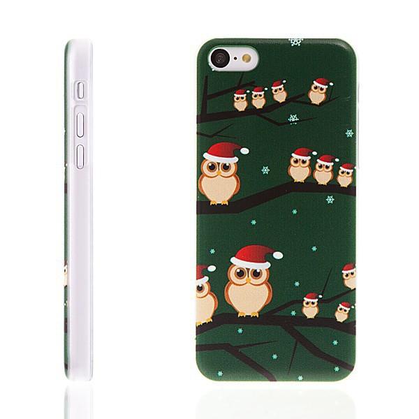 Plastový kryt pro Apple iPhone 5C - Vánoce - sovy