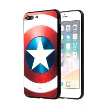 Kryt MARVEL pro Apple iPhone 7 Plus / 8 Plus - Captain America - gumový - červený