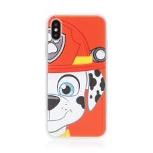 "Kryt ""Tlapková patrola"" pro Apple iPhone X / Xs - gumový - hasič Marshall"