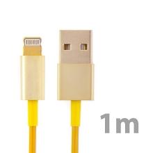 Synchronizační a nabíjecí kabel Lightning pro Apple iPhone / iPad / iPod - zlatý (champagne) - 1m
